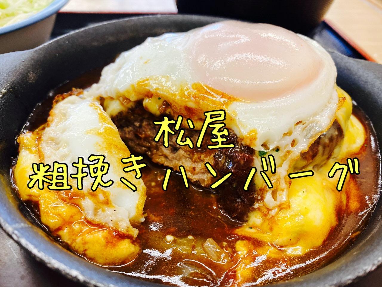 【松屋】超粗挽き「ビーフハンバーグステーキ定食」食べてみた → 200gでたっぷり肉堪能