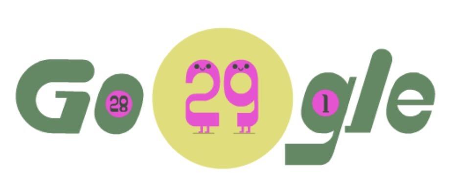 Googleロゴ「うるう年」に