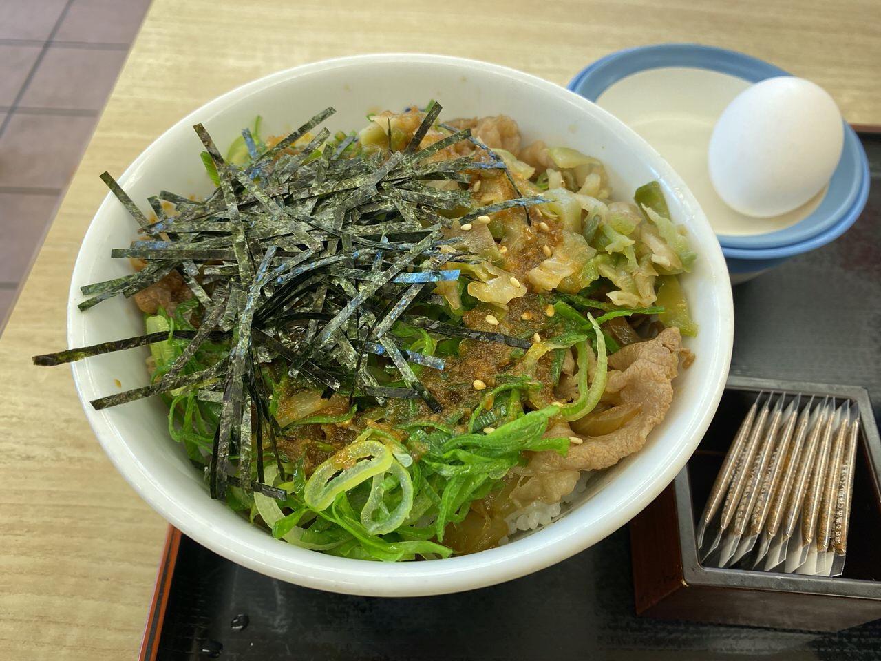 【松屋】「ガリたま牛めし」5