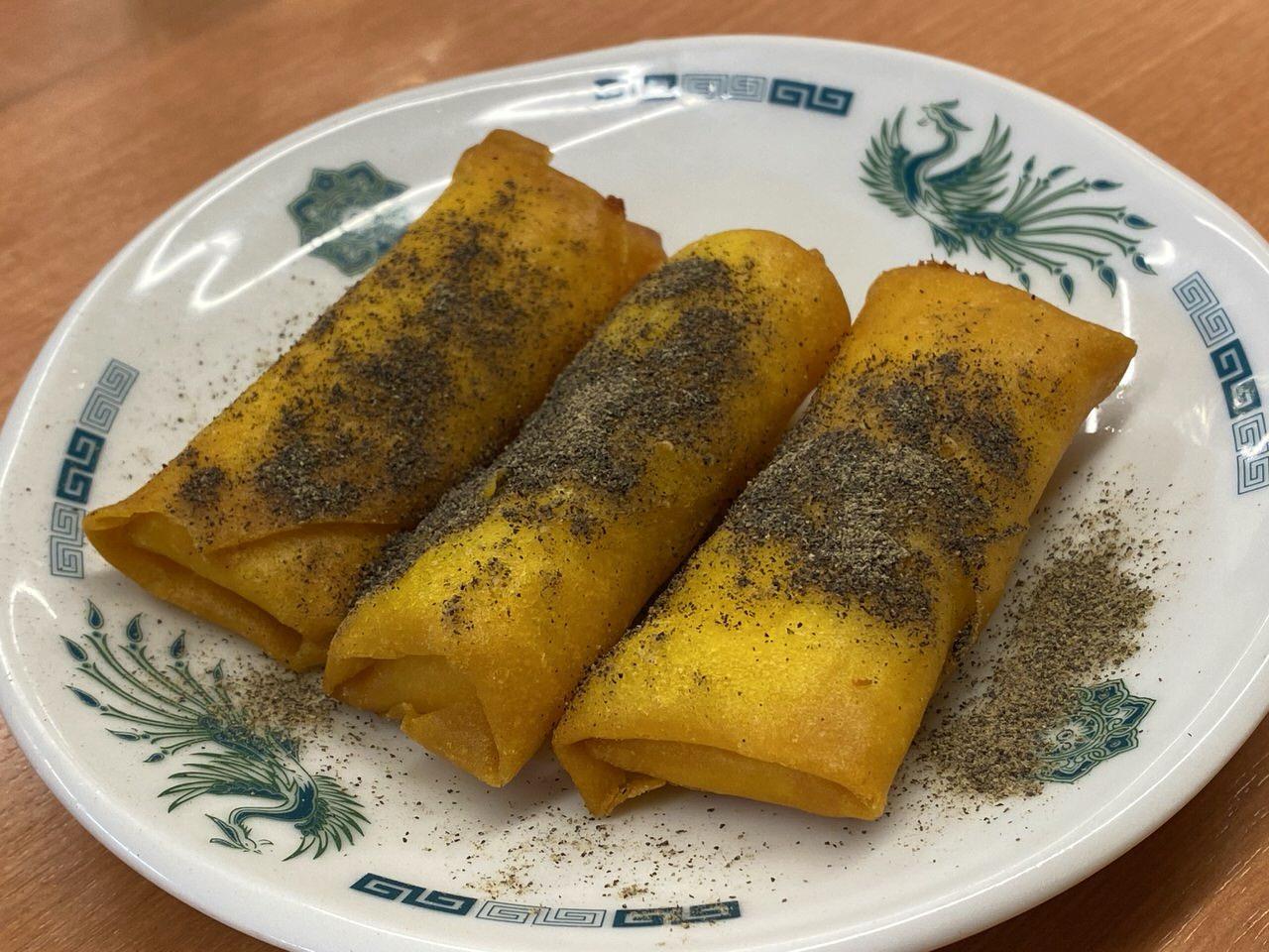 【日高屋】250円の「チーズ巻き」に胡椒たっぷりがすこぶる美味い