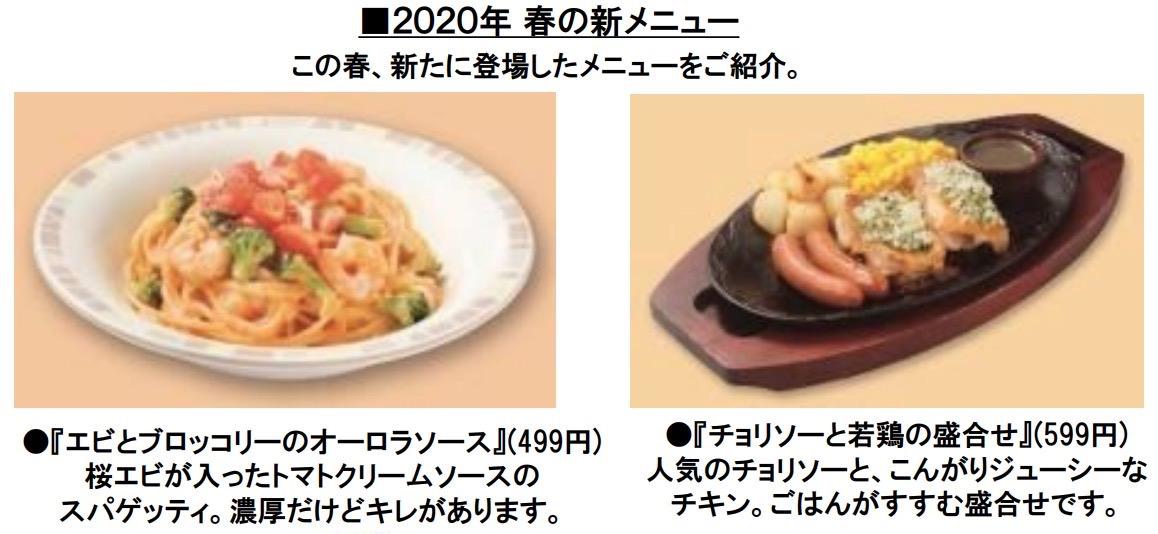 【サイゼリヤ】2020年春のグランドメニュー 2