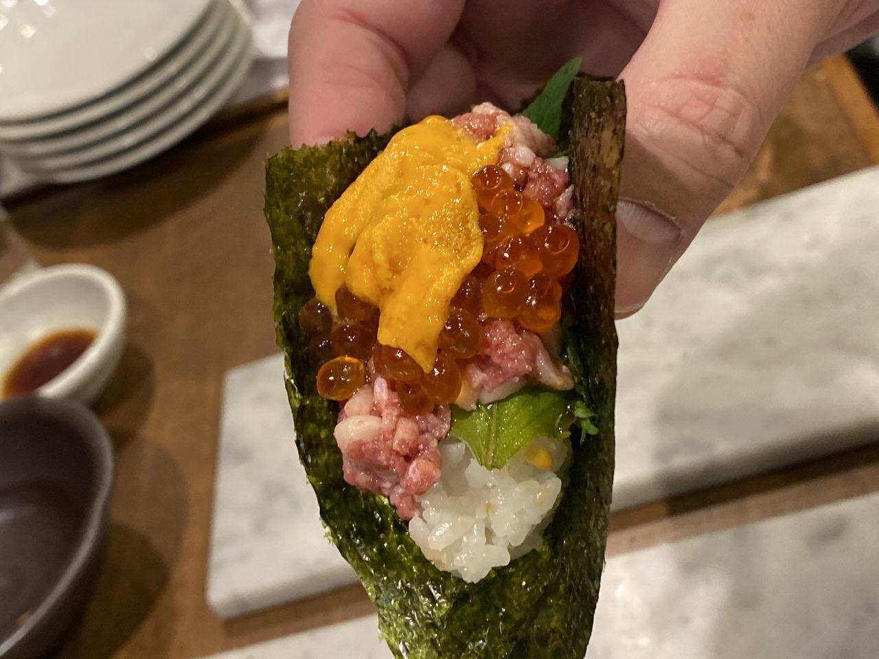「秋葉原 肉寿司」19