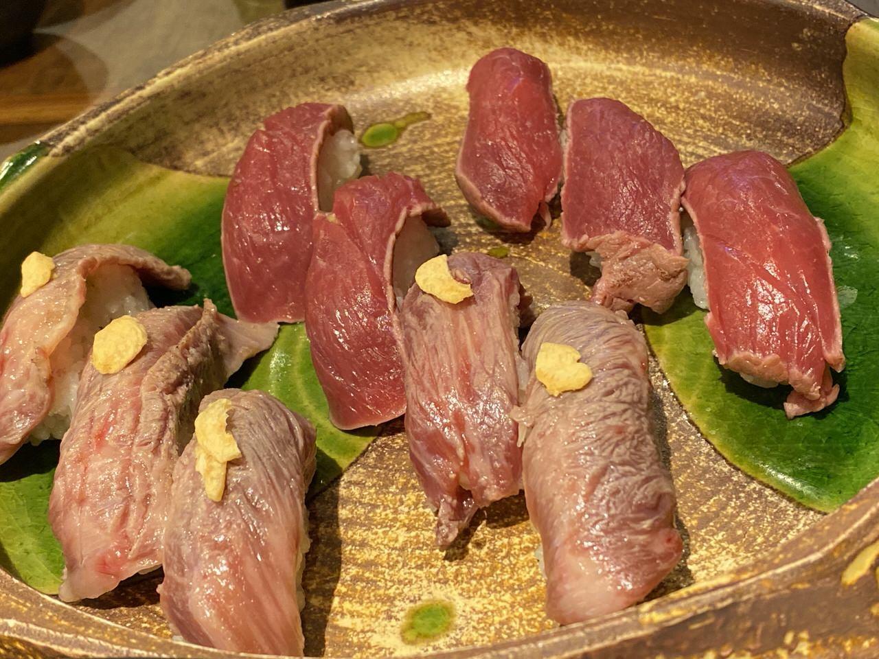 「秋葉原 肉寿司」23