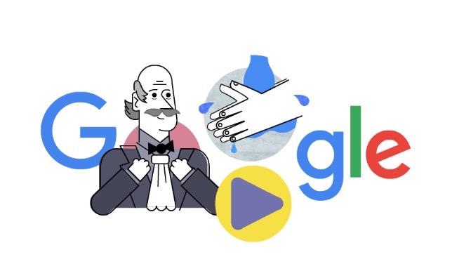 Googleロゴ「センメルヴェイス・イグナーツ」に
