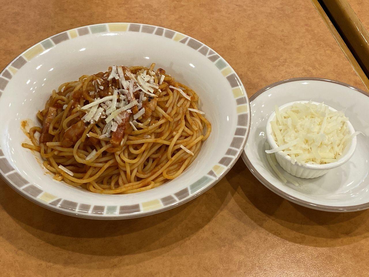 【サイゼリヤ】「パルマ風スパゲッティ」4