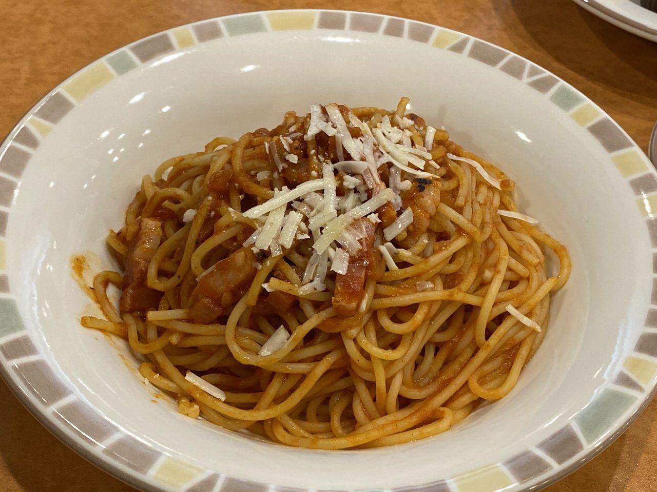 【サイゼリヤ】「パルマ風スパゲッティ」5