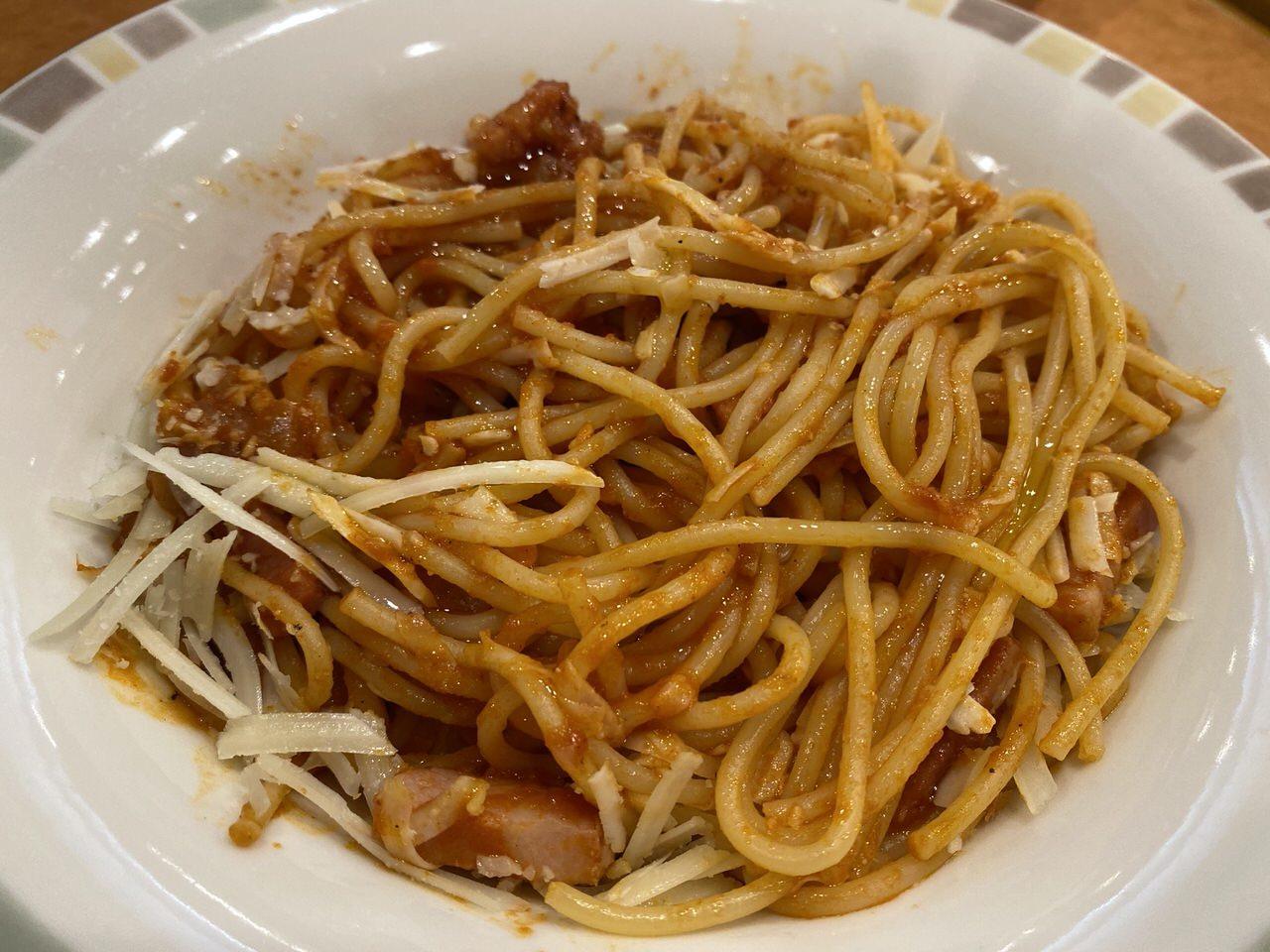 【サイゼリヤ】「パルマ風スパゲッティ」7