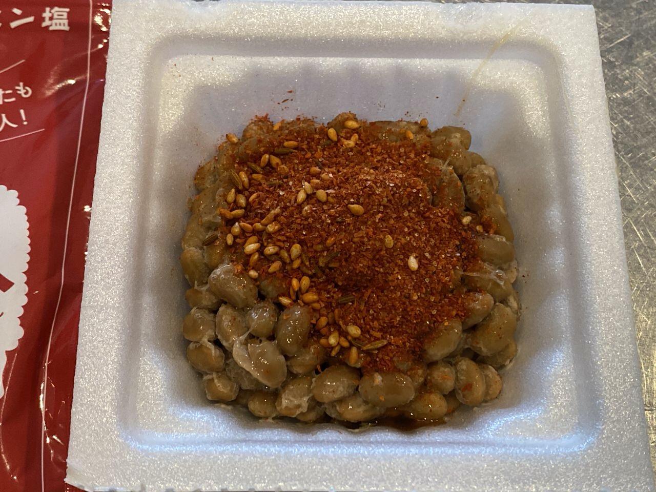 納豆にピリ辛クミン塩「羊名人」2