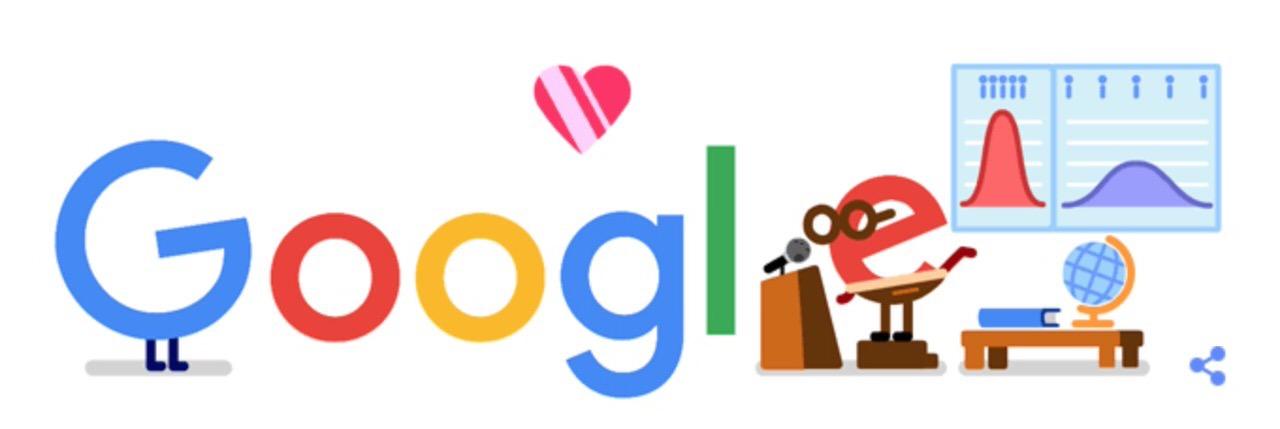 Googleロゴ「公衆衛生 研究者 コロナ 応援」に