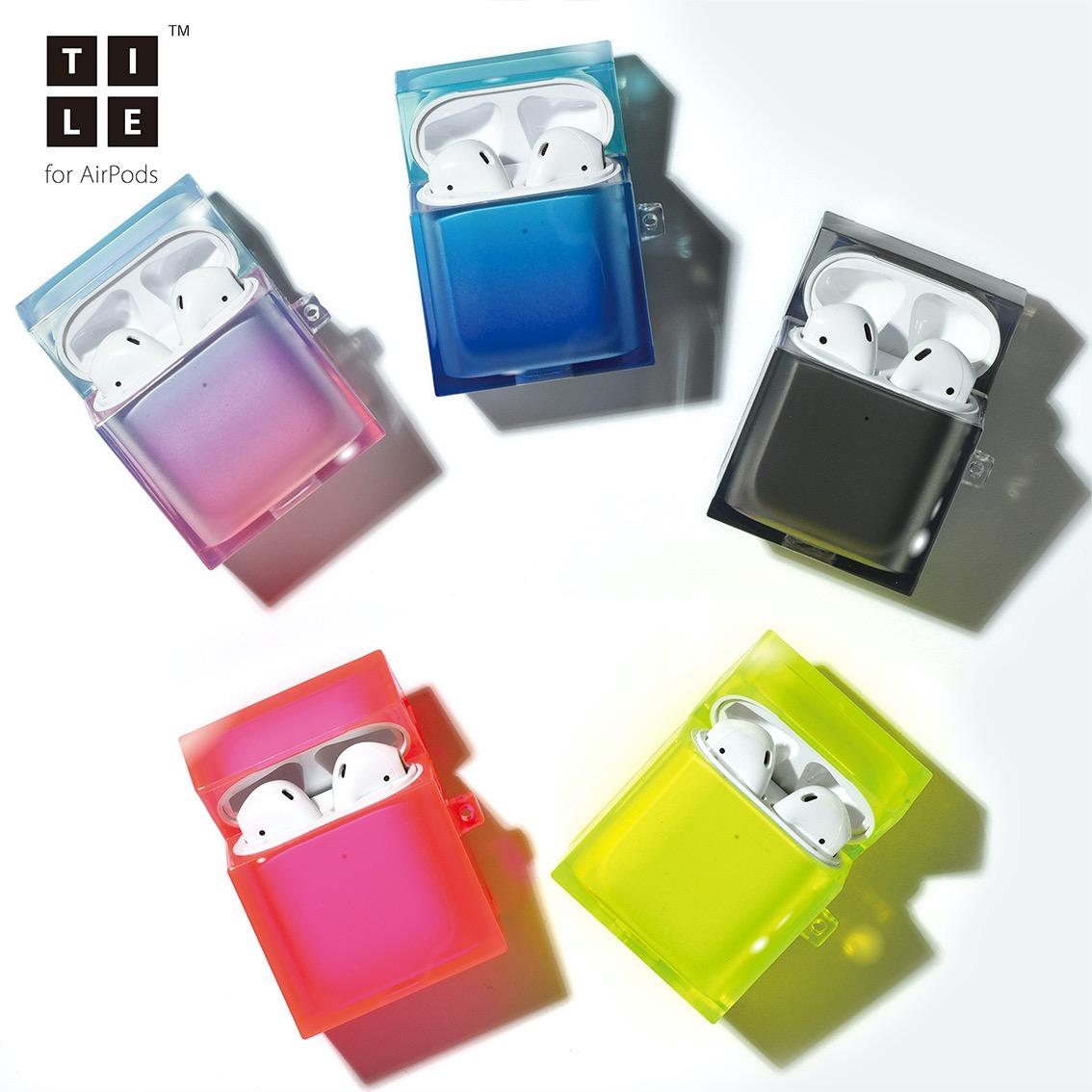 四角いフォルムが特徴のスクエア型ケースTILEシリーズにAirPodsケース「COCKTAIL(カクテル)」「neon(ネオン)」登場