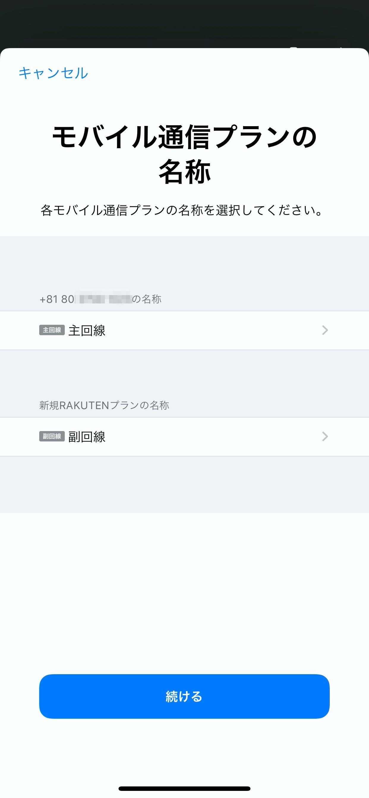 【楽天モバイル】iPhone 11でeSIM設定 18