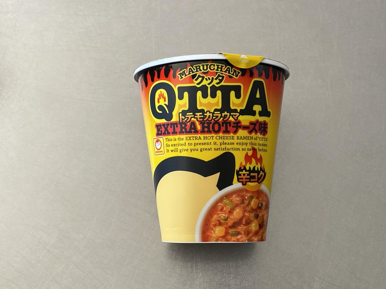 トテモカラウマ「QTTA(クッタ) エクストラホット チーズ味」食べてみた