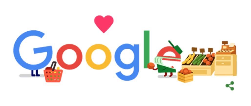 Googleロゴ「店舗 コロナ 応援」に