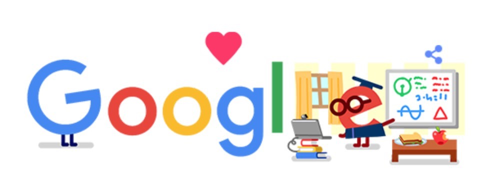 Googleロゴ「教育 コロナ 支援」に