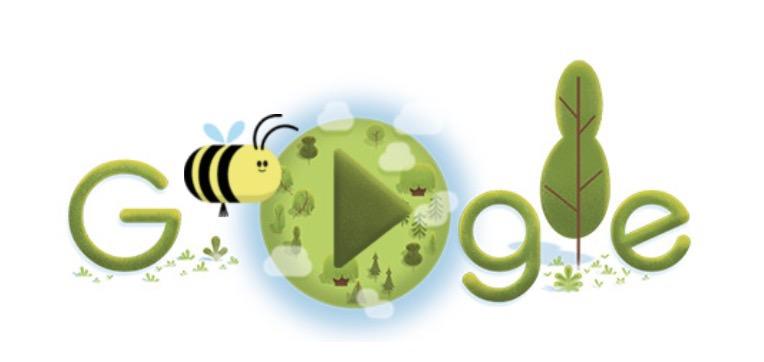 Googleロゴ「2020年アースデイ」に