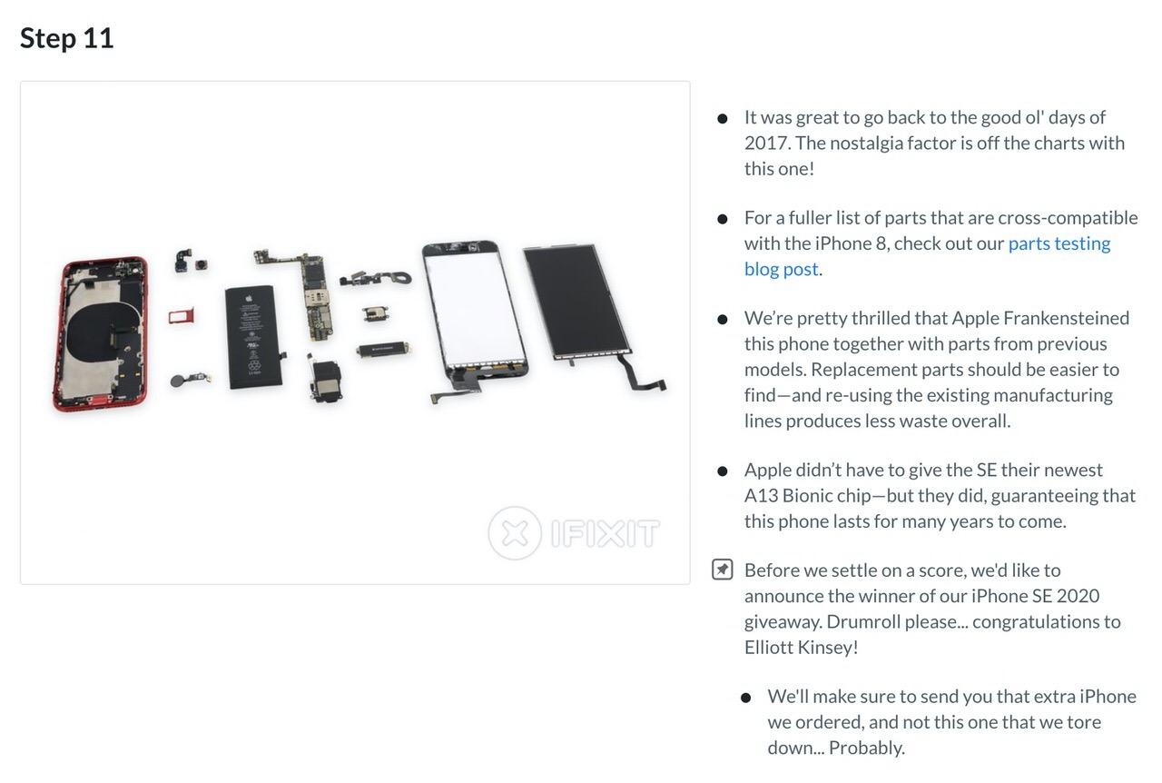 【iPhone SE】「iFixit」がバラシ(分解)レポートを公開