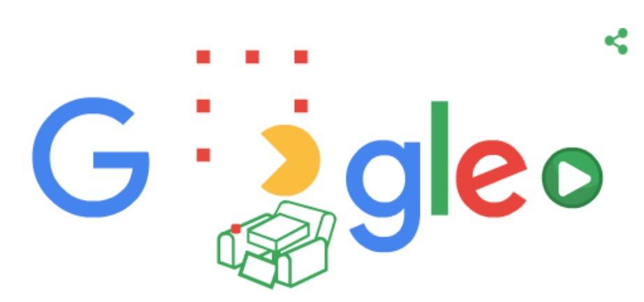 Googleロゴ、自宅で遊べる「人気の Google Doodle ゲーム」に