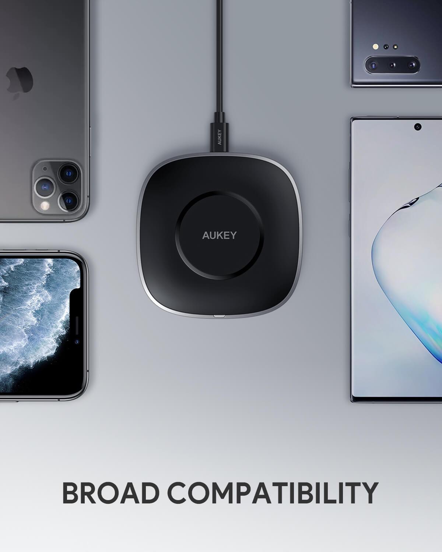 AUKEY、最大出力15W Qi規格のワイヤレス充電器「LC-C6」Amazonで20%オフセール