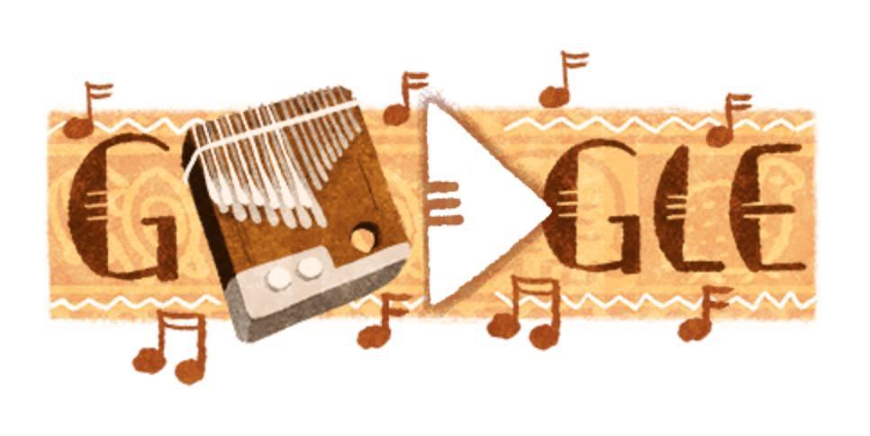 Googleロゴ、ショナ族の楽器「ムビラ」に
