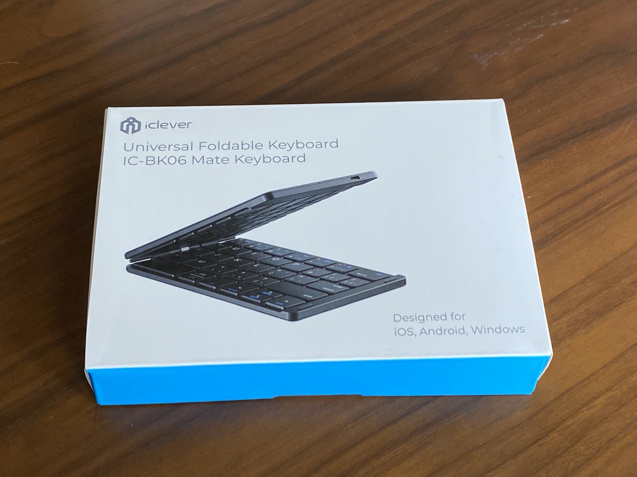 2,899円のBluetooth5.1対応の折りたたみキーボード「IC-BK06Mate」届いたので試し打ちしてみた