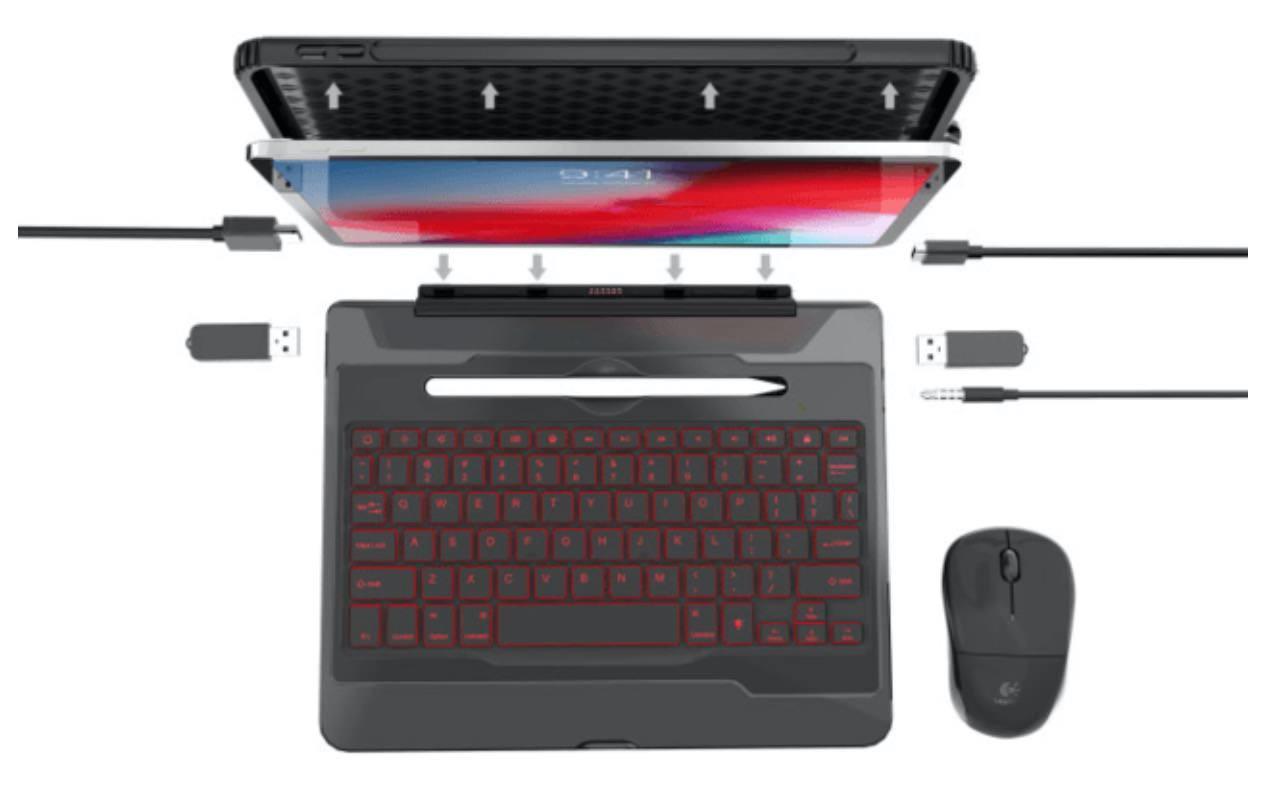 5ポート搭載したiPad Pro用キーボードケース「Chesona H1 Pro」