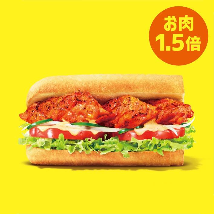 【サブウェイ】10種以上のスパイスが生み出す本格旨辛チキンの「タンドリーサラダチキン」7/1発売