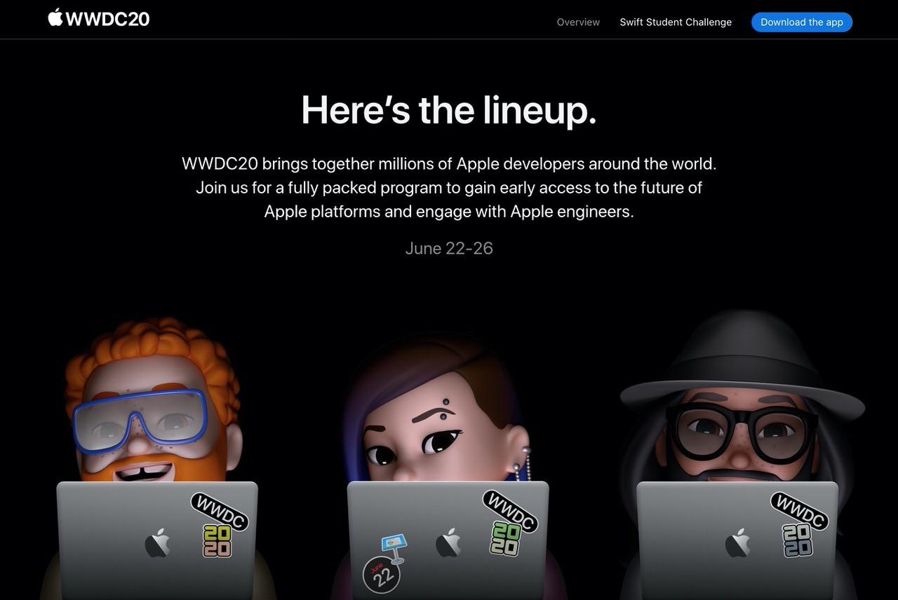 「WWDC2020」基調講演は現地時間6月22日10時からと発表