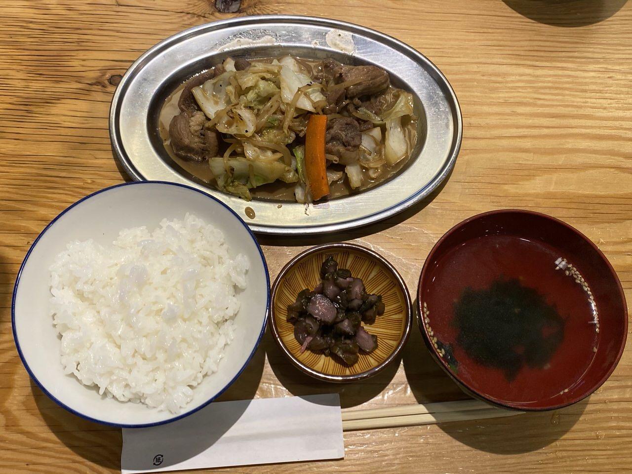 「羊肉酒場悟大」ジンギスカン定食 6