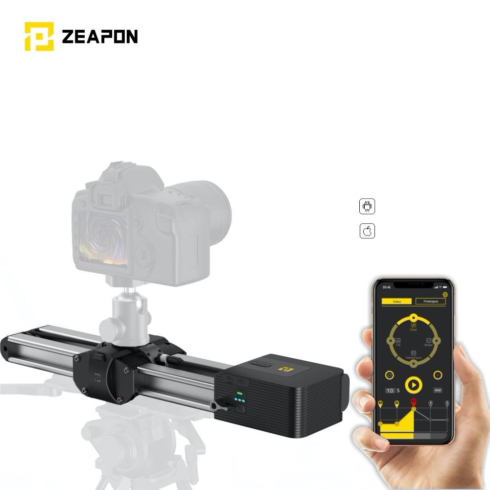 1.8kg・最長52cm移動する小型軽量の電動カメラスライダー「ZEAPON Motorized Micro2 kit」