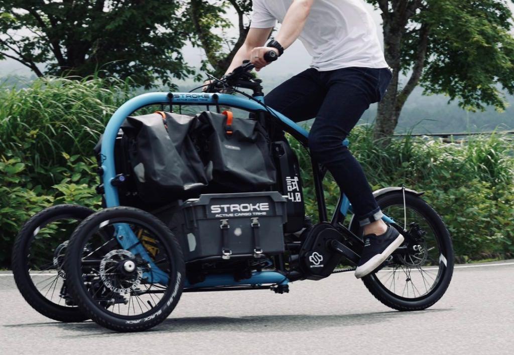 三輪Eカーゴバイク「STROKE」荷物運搬に特化したモビリティーが楽しそう!