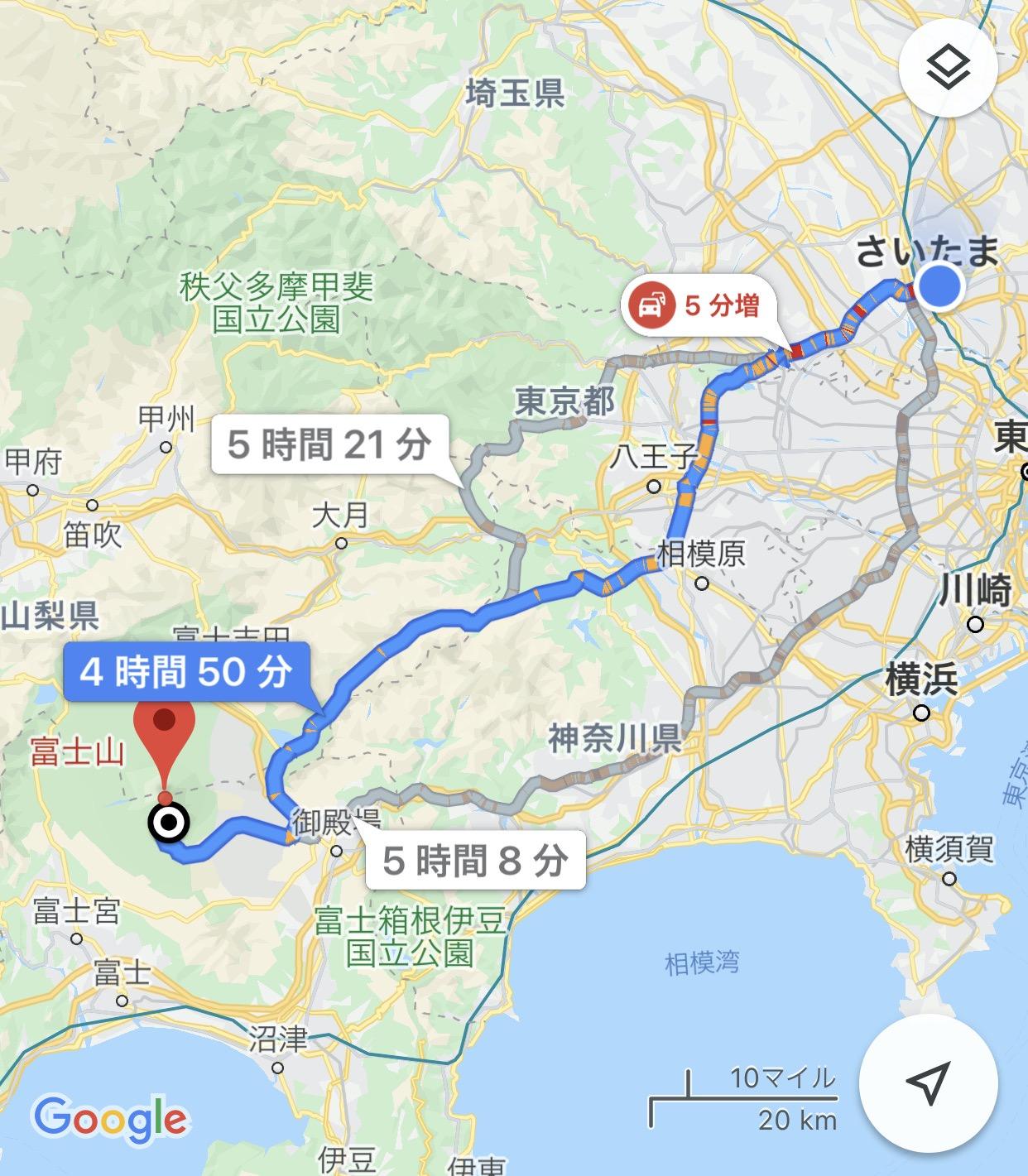 【Googleマップ】ルートの再検索(リルート)が機能していない?