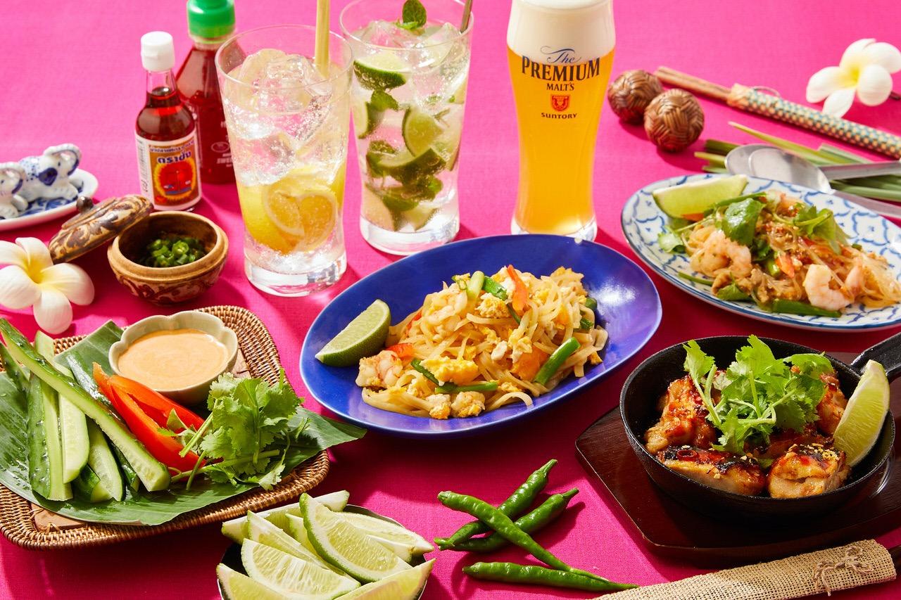 【カフェ&バー プロント】タイキャンペーンで「赤海老のパッタイ(タイ風焼きそば)」「ラープ(タイ風豚ひき肉のサラダ)」が登場