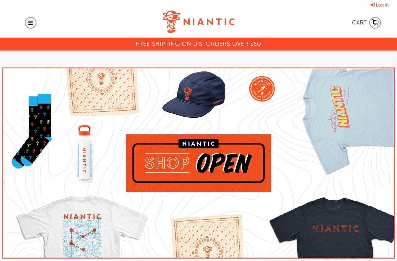 ポケモンGO・Ingressを運営するNianticがオンラインショップを開設