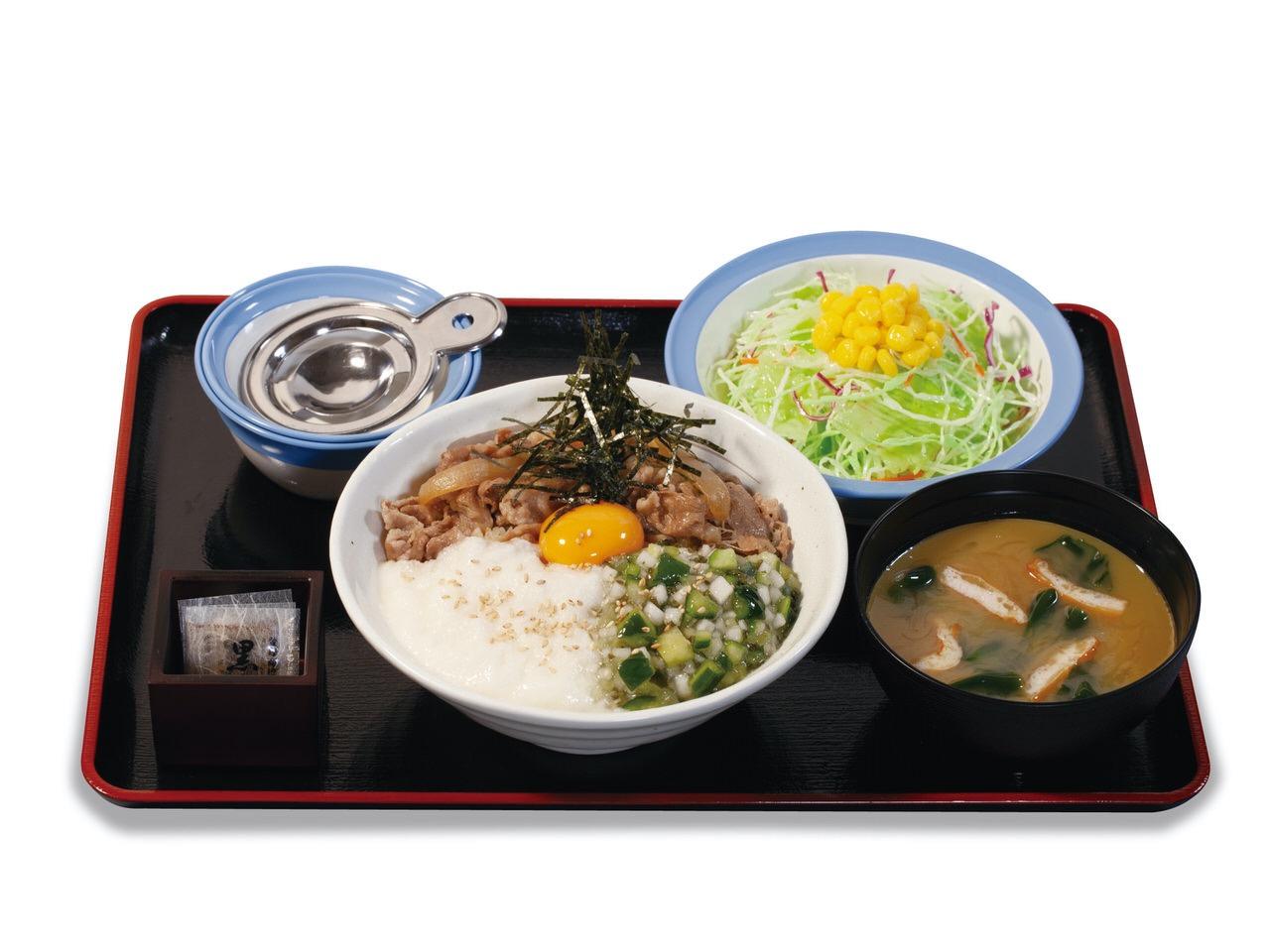 【松屋】茎わさび&とろろ!夏のネバトロは絶対に美味いはず「山形だしの三色丼」8月4日発売