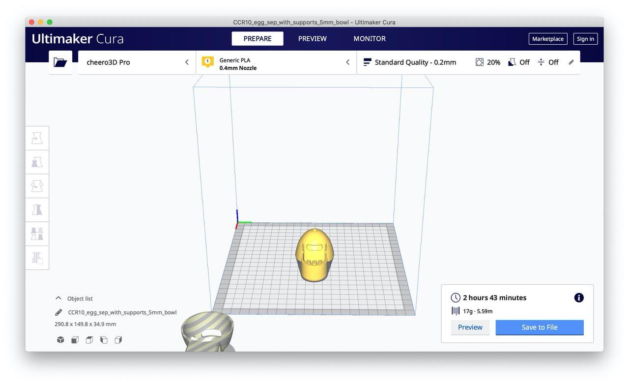 【3Dプリンター】印刷する手順 11