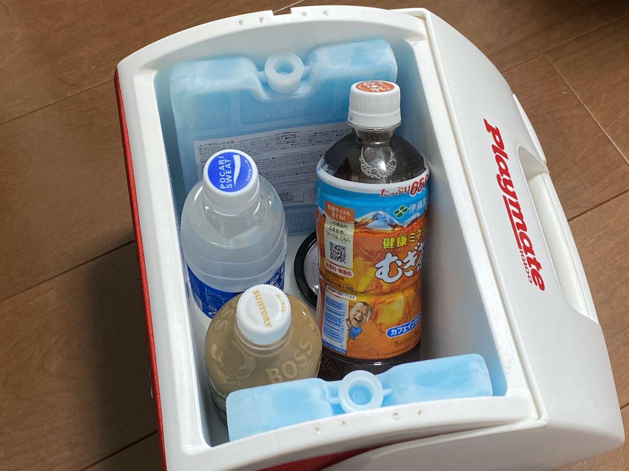 IGLOOのパーソナルなクーラーボックス「Playtmate」にはダイソーの保冷剤がジャストフィットした