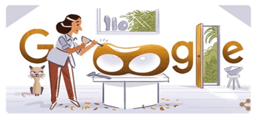 Googleロゴ「バーバラ・ヘップワース」に