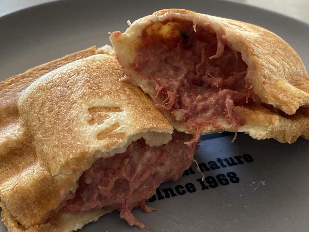 「ホットサンドソロ」コンビーフ+マヨネーズ+とろけるチーズのレシピ 14
