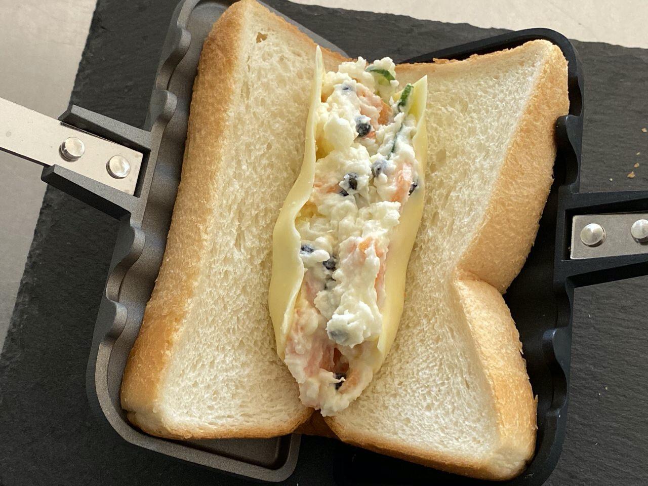 【レシピ】「ホットサンドソロ」ポテトサラダ 4