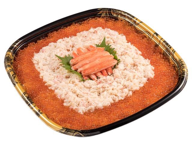 【かっぱ寿司】北海道フェアで約6人前で総重量1.5kg以上の「メガ盛り蟹いくら丼」発売