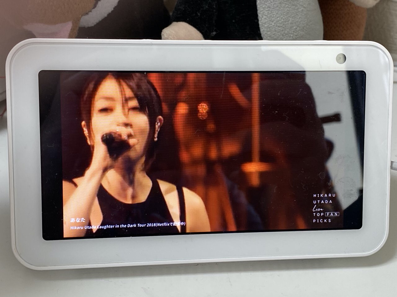 宇多田ヒカルの過去ライブ映像からファンが選んだ人気曲をまとめたYouTube特別番組「HIKARU UTADA Live TOP FAN PICKS」Echo Show 5で見るのに良い