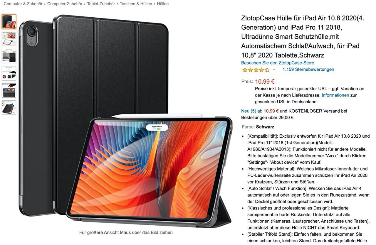9月8日に発表されるのは「iPad Air 4」か?ドイツのアクセサリーメーカーがケースを販売開始