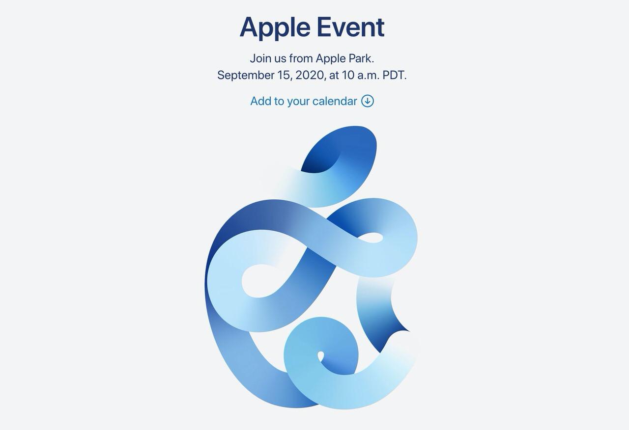 9月15日の「Apple Event」ではApple Watch SE、iPad Air 4などが発表される、iPhoneは発表されない