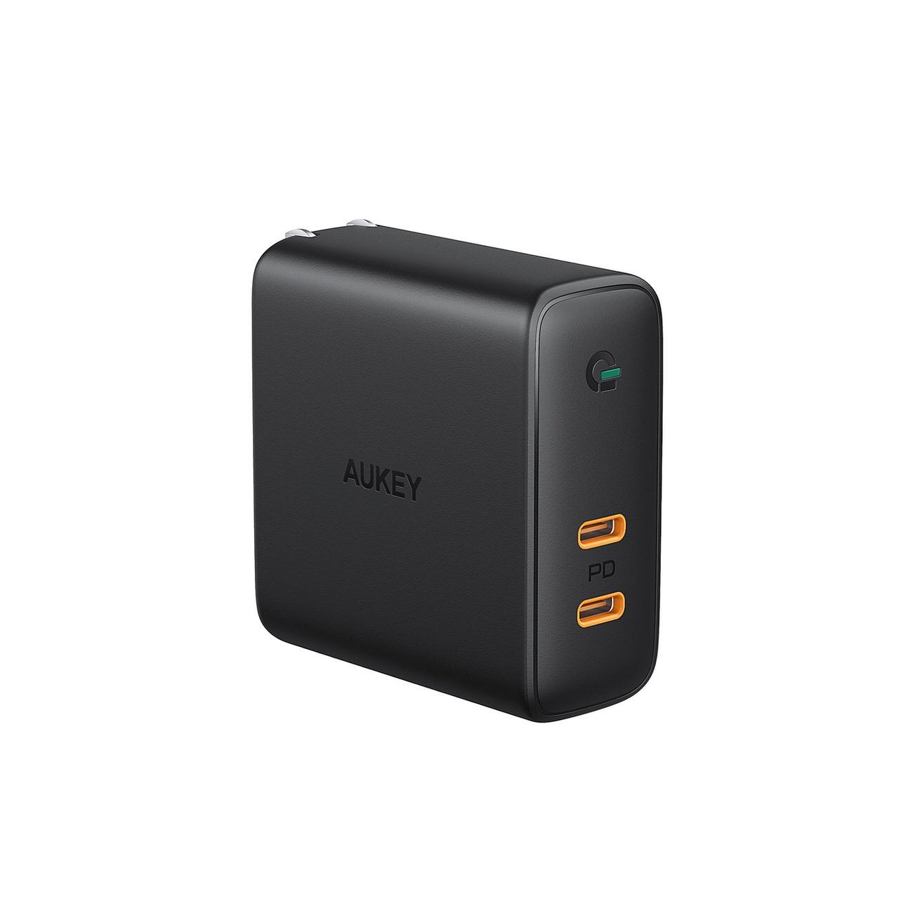 MacBook Pro+スマホでも急速充電できる窒化ガリウム(GaN)採用のUSB-C 2ポート急速充電器 「AUKEY PA-D5」がAmazonで41%オフ