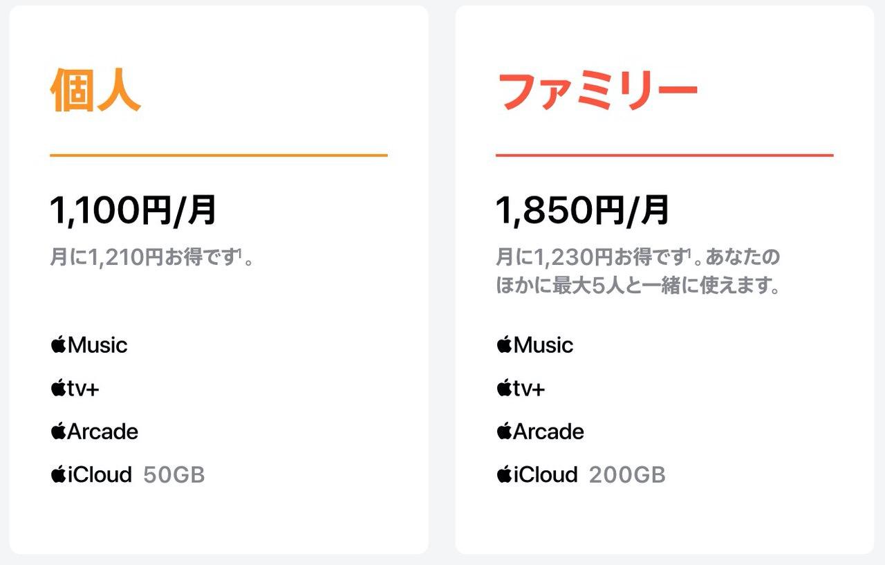 Appleの4つのサブスクサービスをワンセットにした「Apple One」を日本でも開始