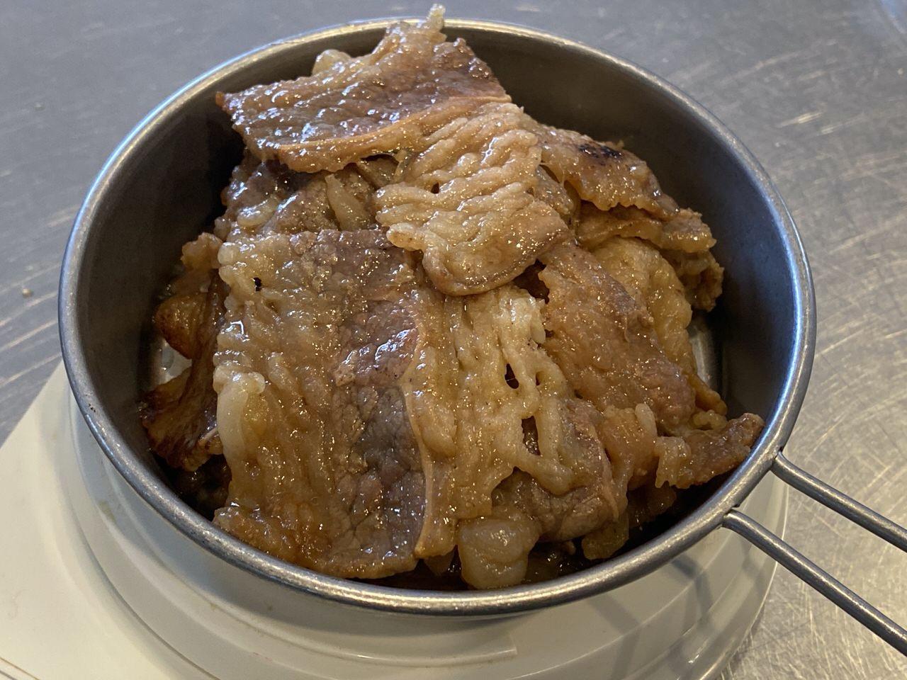 【松屋】カルビ焼肉33%増量は何グラム?3