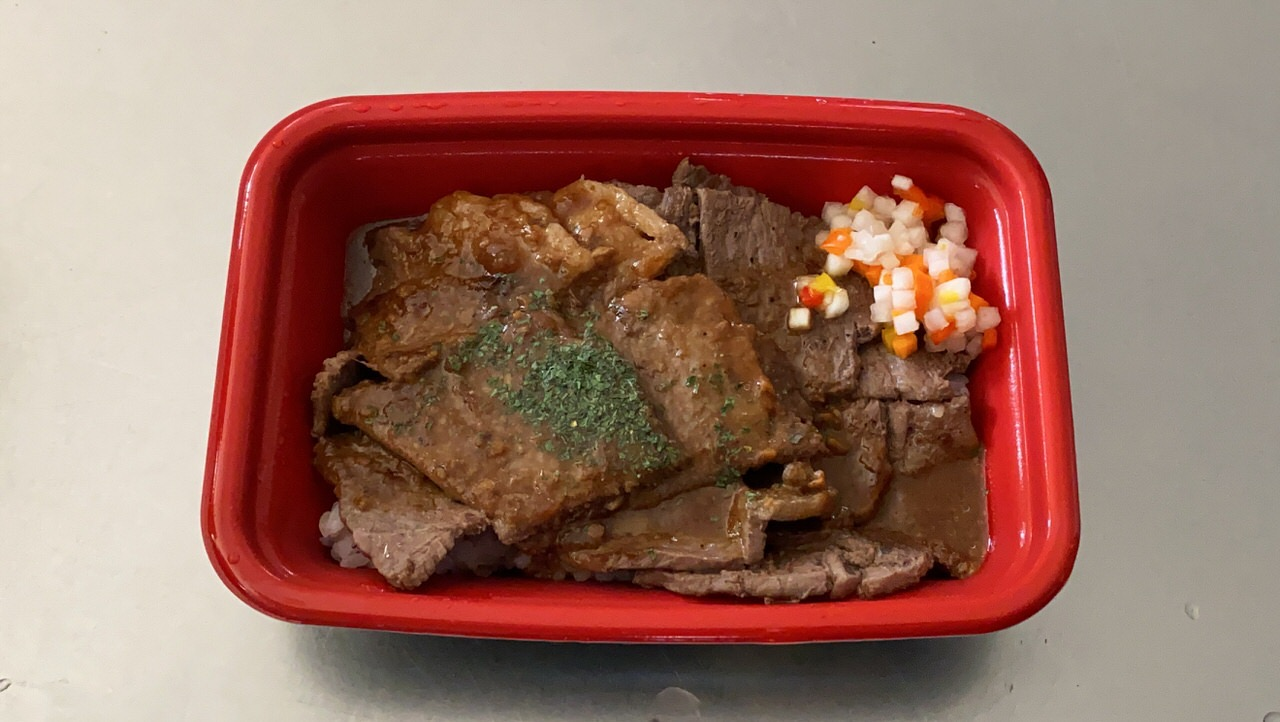 松屋「牛ステーキ丼」4
