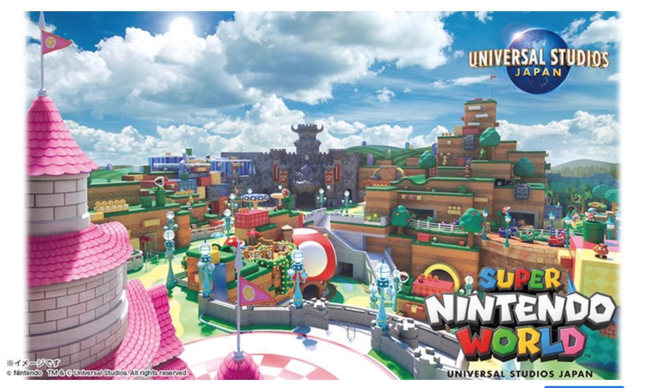【USJ】任天堂のキャラクターと世界がテーマの「SUPER NINTENDO WORLD」2021年春開業と発表