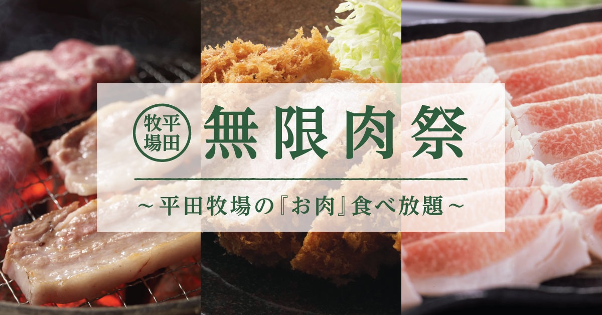 【平田牧場】三元豚ロースかつ・三元豚ヒレかつ・三元豚メンチかつが食べ放題になる「無限とんかつ祭り~とんかつ食べ放題~」期間限定で開催