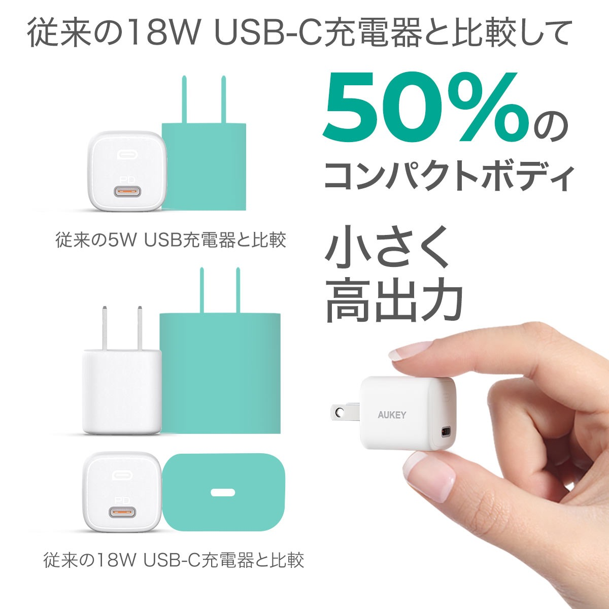 重量30gの20W Omnia Mini PD充電器「AUKEY PA-B1」セールで1,584円(10/13まで)